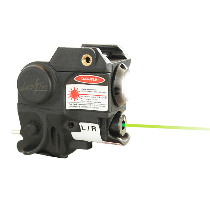 Drop shipping Subcompact mini boyutu tabanca ray monte yeşil nokta lazer sight LED el feneri combo